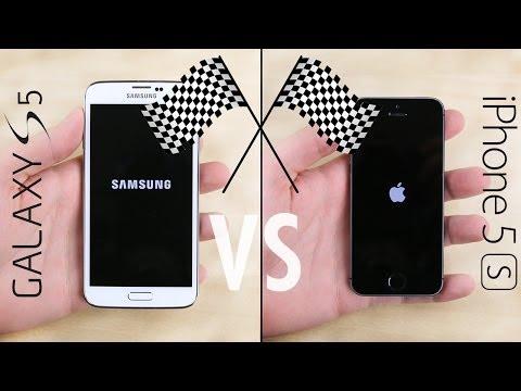 Galaxy S5 vs. iPhone 5S Speed Test