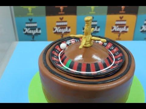 Tarta de ruleta que gira. Roulette cake