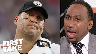 Big Ben was straight garbage vs. the Patriots - Stephen A. is disgusted by the Steelers | First Take