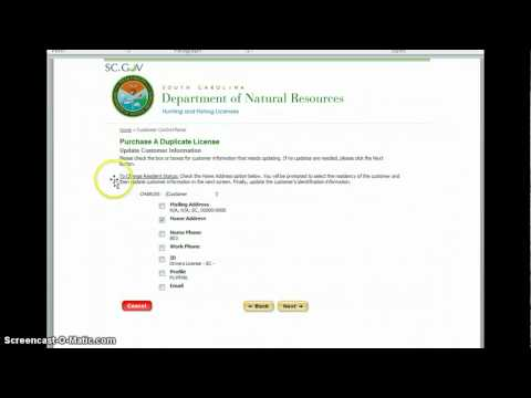 How to buy a duplicate hunting license online