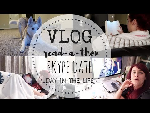 VLOG | Author Weekend-In-The-Life | Read-A-Thon, Wine, & Skype Dates