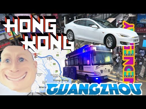 HONG KONG to GUANGZHOU 🚉 🇨🇳  Uber Tesla or Train? |  Digital Nomad CHINA Trip Travel Vlog 06