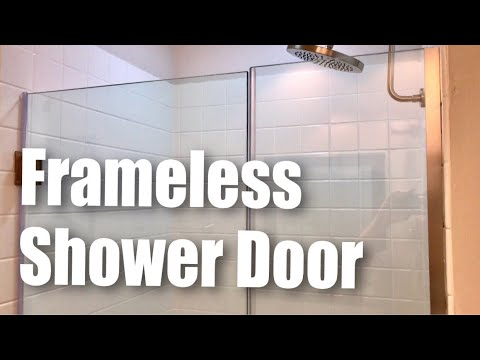 DreamLine Unidoor Plus Frameless Hinged Glass Shower Door (Brushed Nickel Finish) review