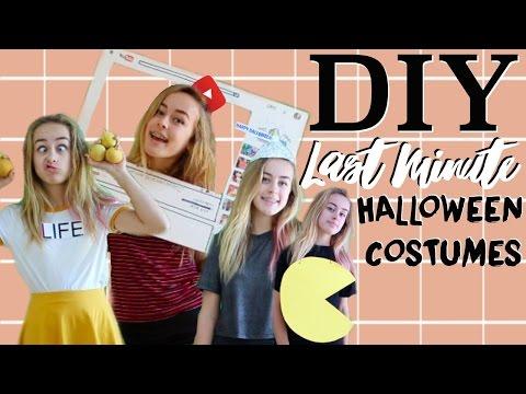DIY Last Minute Halloween Costumes! DIY Halloween Costumes!