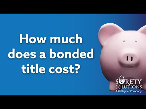 How Much Does a Bonded Title (Lost Title Bond) Cost?