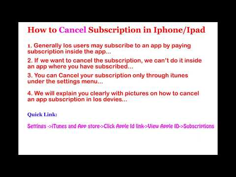 How to Cancel Subscription in Iphone/Ipad..Visit ideayourtrip.com