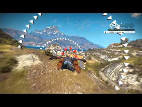 Just Cause 3 - Wingsuit perfect race