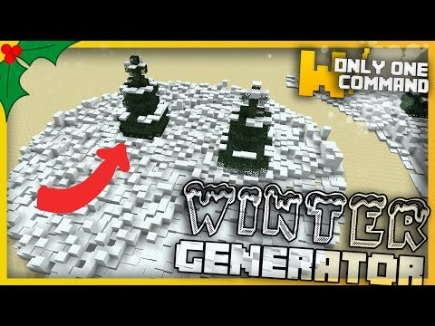 Minecraft - WINTER GENERATOR With Only One Command Block