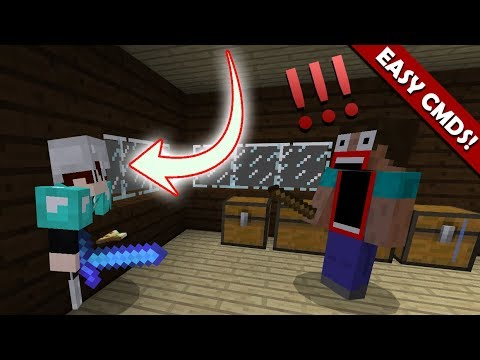 How to GO THROUGH ANYTHING with Command Blocks in Minecraft PE (NOT GLITCHED BLOCK!!)