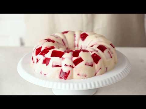 Strawberries and Cream Gelatin Recipe