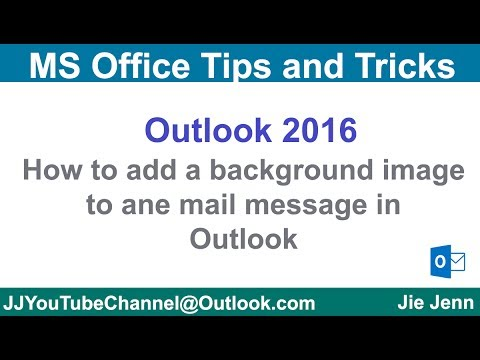 How to add a background image to an email  message in Outlook | Outlook Tutorial