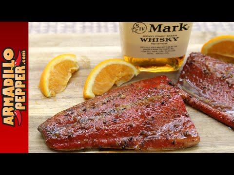 Smoked Bourbon & Orange-Honey Glazed Salmon on the Grill