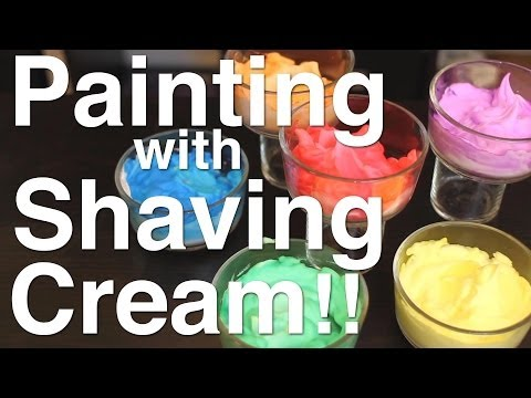 Painting with Shaving Cream!! Part 1!!
