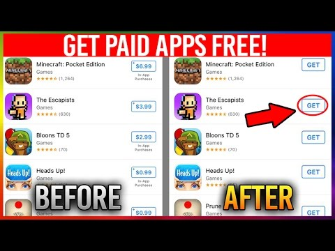 GET ANY PAID iPHONE or ANDROID APP FOR FREE! (Life Hacks)
