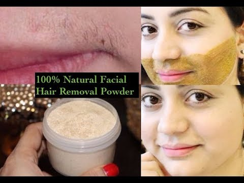 How to Remove Facial Hair PERMANENTLY! Facial Hair Removal Powder | Clear Smooth Skin