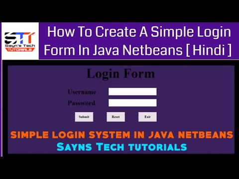 Login System in Java Netbeans IDE [ Hindi Tutorial ]