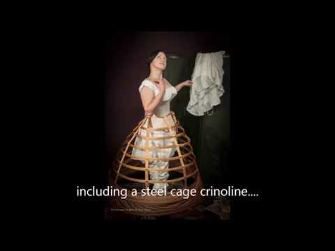 How to get into a car wearing a cage crinoline