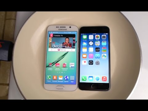 Samsung Galaxy S6 vs iPhone 6 Boiling Hot Water Test. Waterproof?