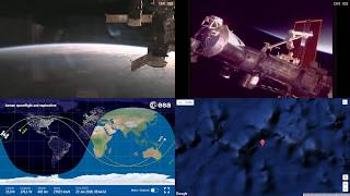 Orbital Sunset Over Australia And Pacific - ISS Space Station Earth View LIVE NASA/ESA Cameras - 35
