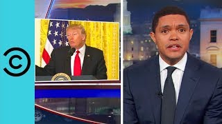 Trump Goes It Alone - His First Solo Press Conference | The Daily Show