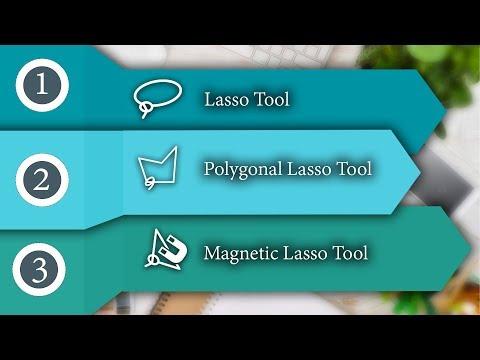 Polygon Lasso tool in Adobe Photoshop CC Hindi