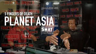 Planet Asia Goes Off The Top for his 5 Fingers of Death Freestyle