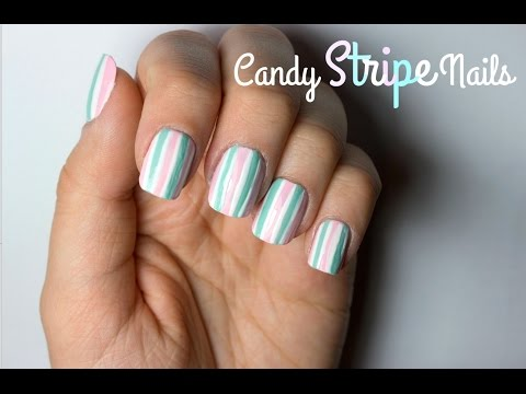 Candy Stripe Nails   Viki Nailbeauty