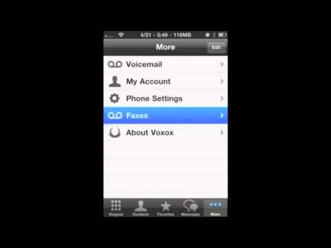 Voxox Call for iPhone - Fax Viewer