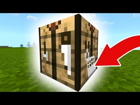 How To Live WITHIN a CRAFTING TABLE in Minecraft Pocket Edition, Xbox, Switch