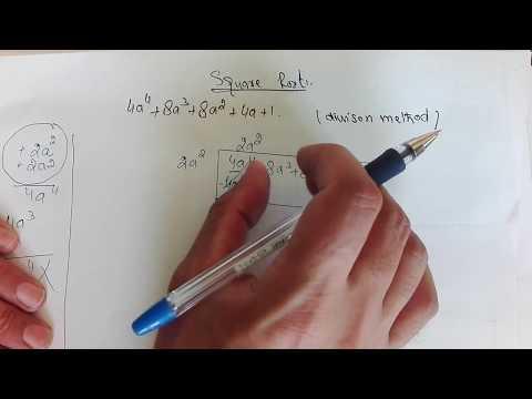 square root of algebraic expression (division method)