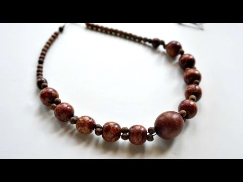 How To Create A Pretty Wooden Beaded Necklace - DIY Crafts Tutorial - Guidecentral