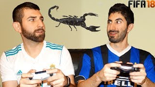Eating Scorpion Fifa 18 Forfeit Challenge (real Madrid Vs. Inter Milan)