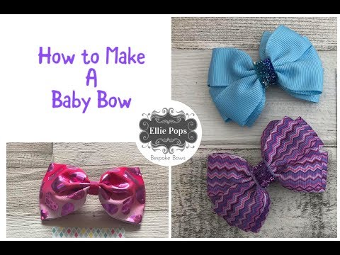 How to make a Baby Bow with Velcro