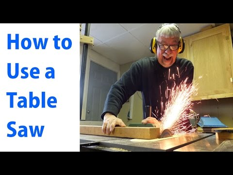 How to Use a Table Saw: Woodworking For Beginners #1 -  woodworkweb