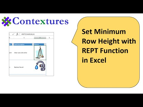 Set Minimum Row Height With REPT Function