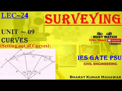 Surveying~ Lec 24~U9 ~ Curves(Setting Out of Curve) by Bharat Kumar Mahawar