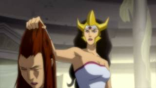 Wonder Woman murdering Aquaman
