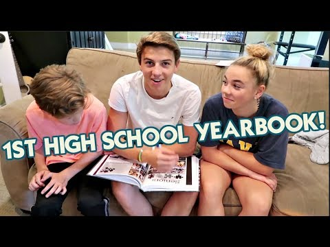 BRENNAN GETS HIS FIRST HIGH SCHOOL YEARBOOK