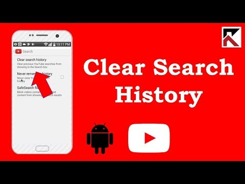 How To Clear Search History On YouTube Android 2018