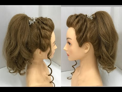 Beautiful Ponytail Hairstyle for Summers : Easy Hairstyles