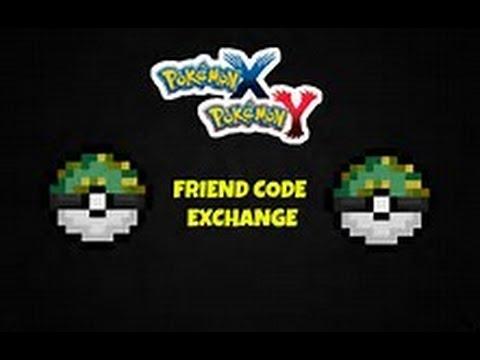 Pokemon X and Y Friend Code Exchange!