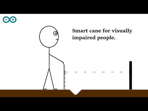 Smart cane for visually impaired people