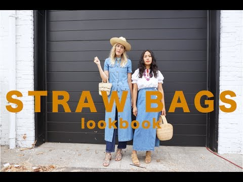 HOW TO STYLE STRAW BAGS// LOOKBOOK