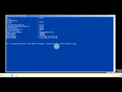 Get ADUser information using PowerShell