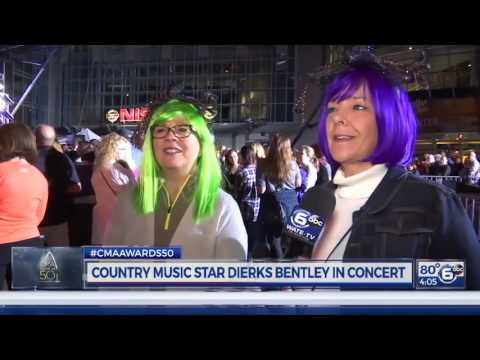 Fans line up for hours for Dierks Bentley concert