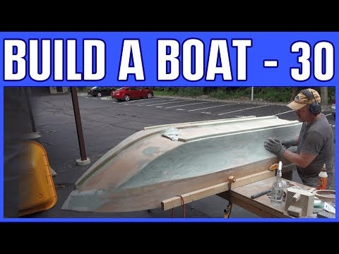 How to Build a Small Electric Wooden Boat #30 - Fiberglass Epoxy Peanut Butter