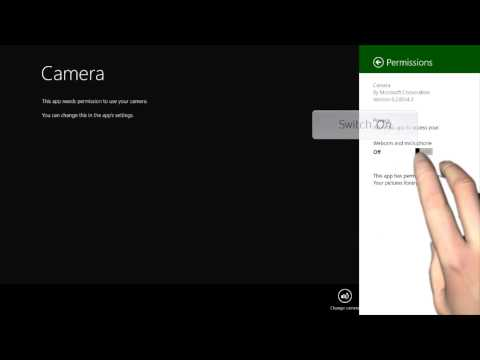 Windows 8/8.1 - Camera Permissions