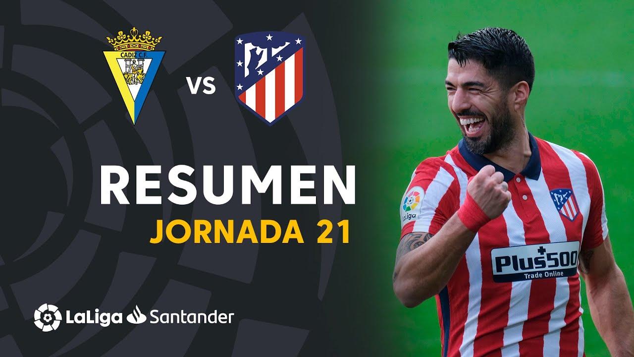Resumen de Cádiz CF vs Atlético de Madrid (2-4)