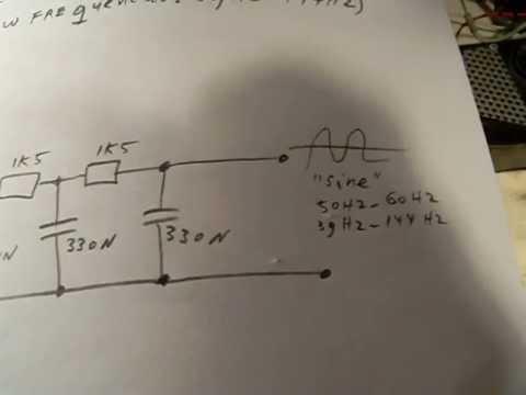 change a square wave into a sine wave, part 2 (low frequencies)