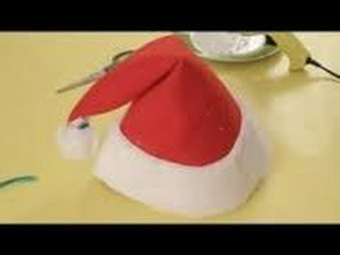 Origami Christmas - How to make an Origami Santa Claus Cap/Hat